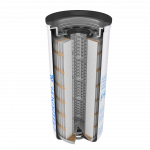 Donaldson Oil Filter cutaway
